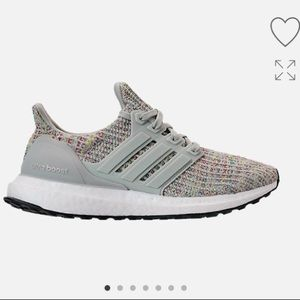 Adidas ultra boost sneakers shoes silver gray